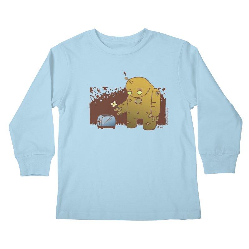 Sad Robot Kids Longsleeve T-Shirt by Chris Williams' Artist Shop