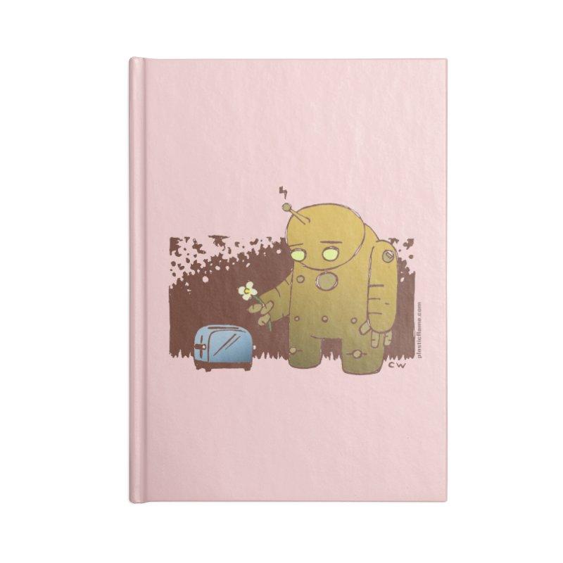 Sad Robot Accessories Notebook by Chris Williams' Artist Shop