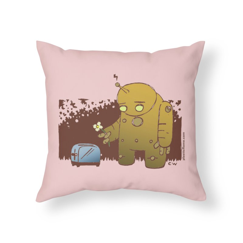 Sad Robot Home Throw Pillow by Chris Williams' Artist Shop