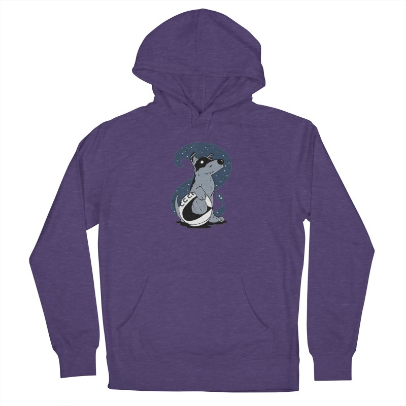 Laika, Spacedog Men's French Terry Pullover Hoody by Chris Williams' Artist Shop