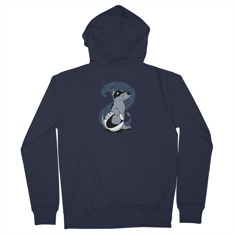 Laika, Spacedog Men's Zip-Up Hoody by Chris Williams' Artist Shop