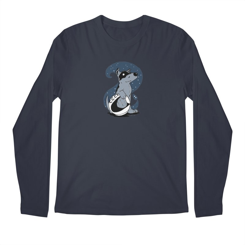 Laika, Spacedog Men's Regular Longsleeve T-Shirt by Chris Williams' Artist Shop