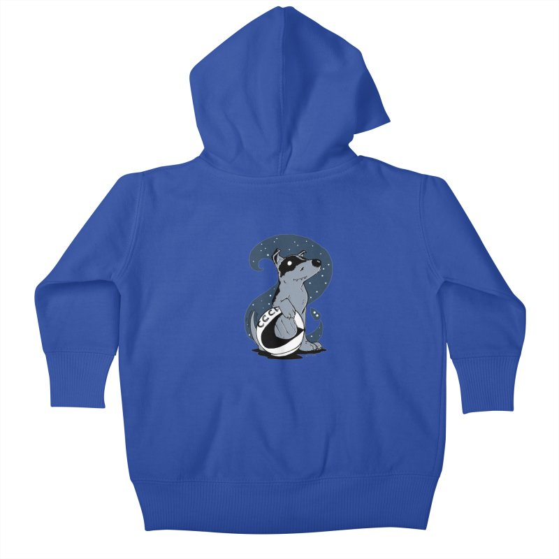 Laika, Spacedog Kids Baby Zip-Up Hoody by Chris Williams' Artist Shop