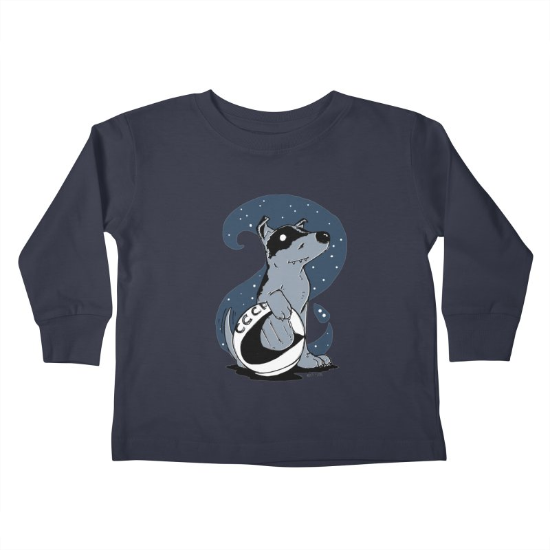 Laika, Spacedog Kids Toddler Longsleeve T-Shirt by Chris Williams' Artist Shop