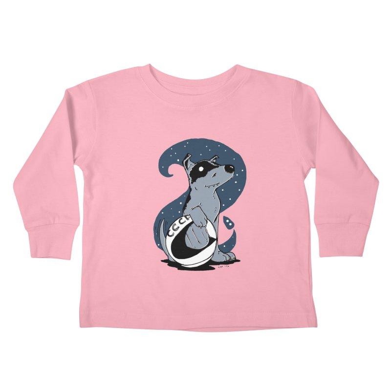 Laika, Spacedog Kids Toddler Longsleeve T-Shirt by Chris Williams' Artist Shop