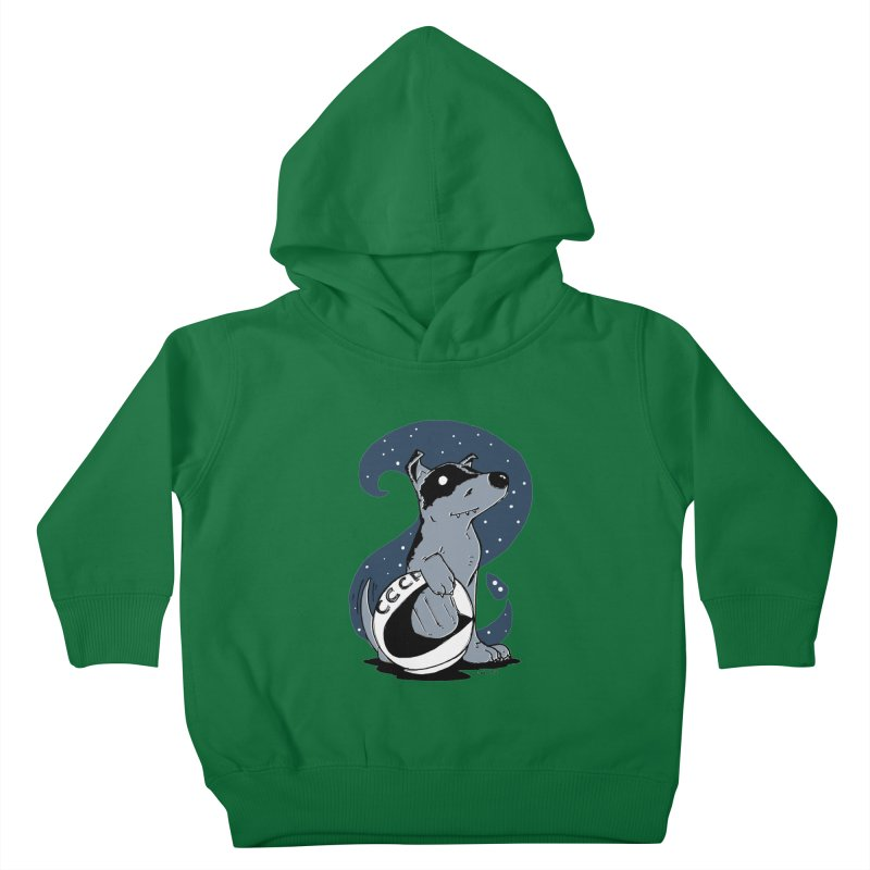 Laika, Spacedog Kids Toddler Pullover Hoody by Chris Williams' Artist Shop