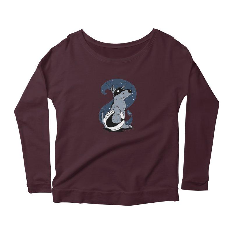 Laika, Spacedog Women's Scoop Neck Longsleeve T-Shirt by Chris Williams' Artist Shop