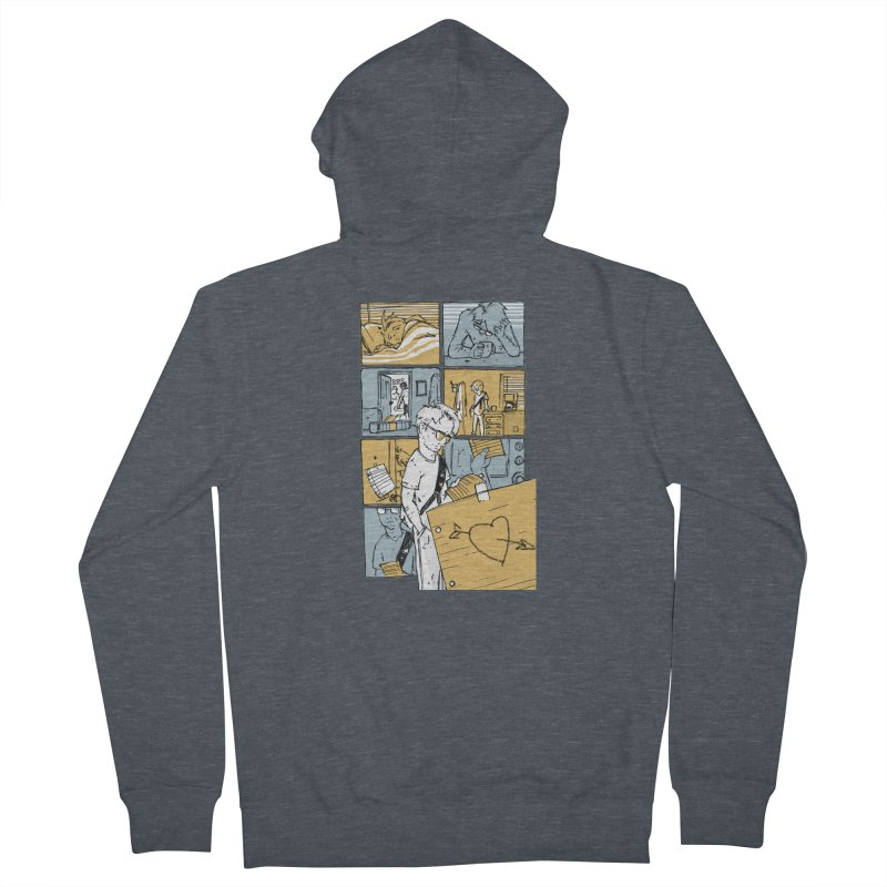 In the Morning Men's French Terry Zip-Up Hoody by Chris Williams' Artist Shop