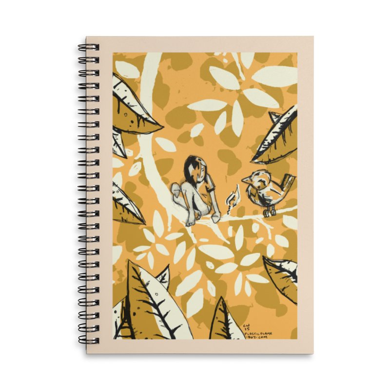 Little Spark Accessories Lined Spiral Notebook by Chris Williams' Artist Shop