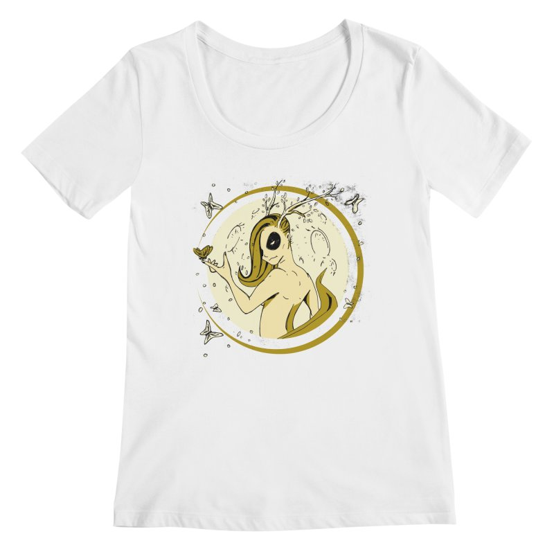 Nymph by the Moon Women's Regular Scoop Neck by Chris Williams' Artist Shop