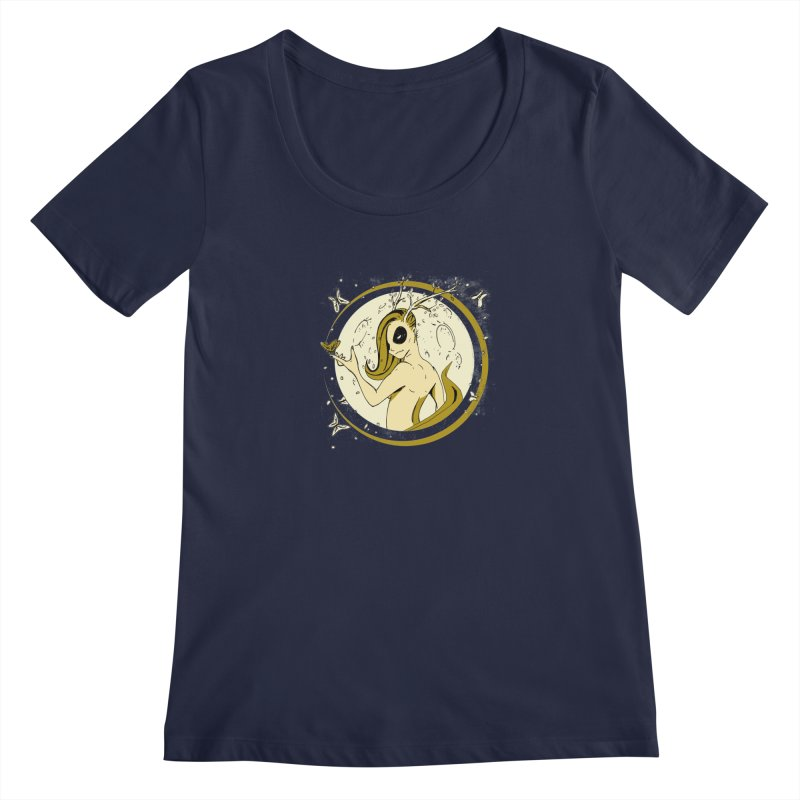Nymph by the Moon Women's Scoopneck by Chris Williams' Artist Shop