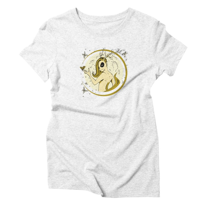 Nymph by the Moon Women's Triblend T-shirt by Chris Williams' Artist Shop