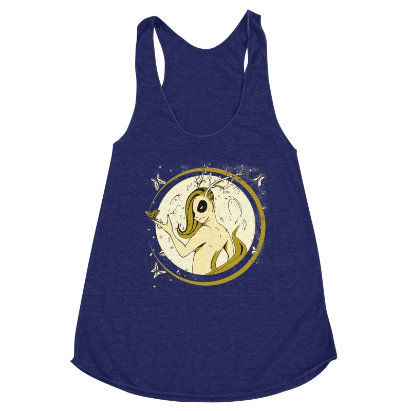 Nymph by the Moon Women's Racerback Triblend Tank by Chris Williams' Artist Shop