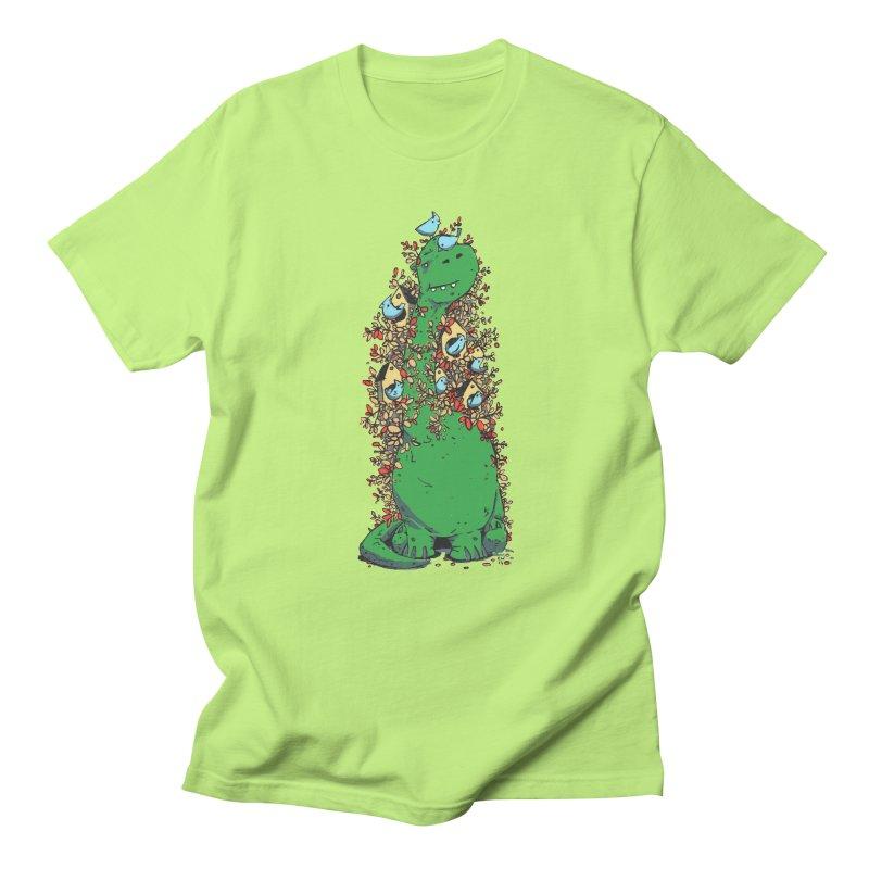 Dino Tree Men's Regular T-Shirt by Chris Williams' Artist Shop
