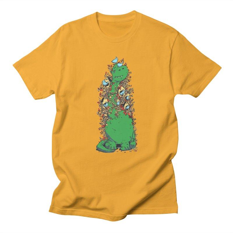 Dino Tree Men's T-shirt by Chris Williams' Artist Shop