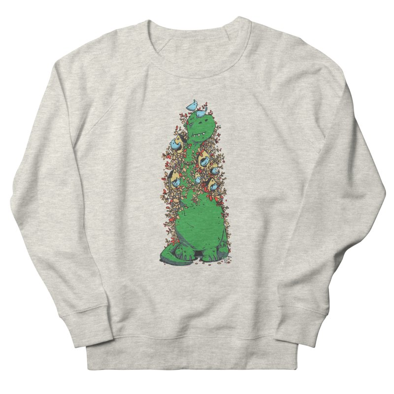 Dino Tree Men's French Terry Sweatshirt by Chris Williams' Artist Shop
