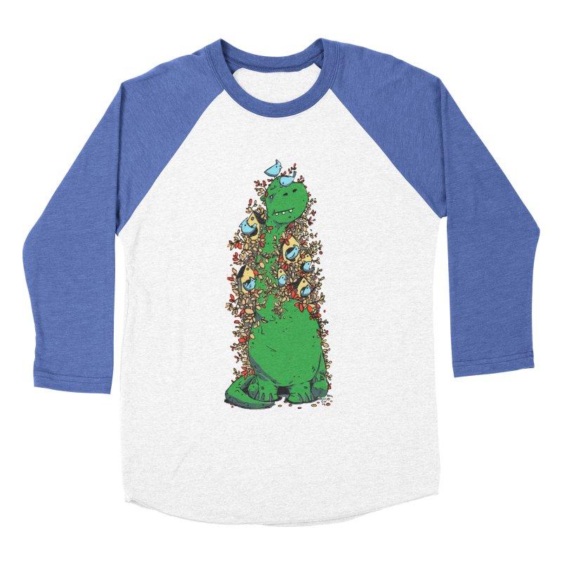 Dino Tree Women's Baseball Triblend Longsleeve T-Shirt by Chris Williams' Artist Shop
