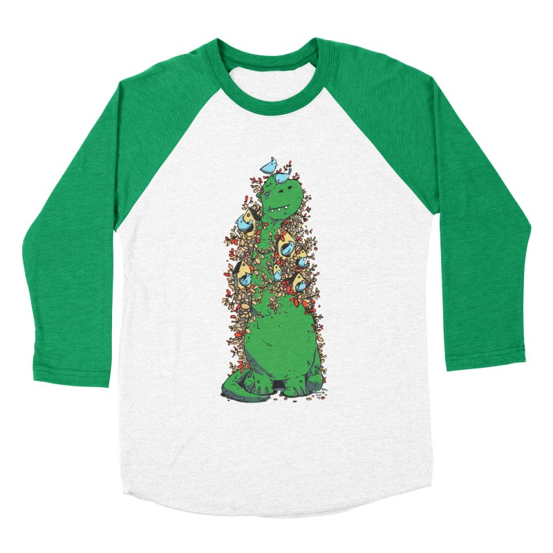 Dino Tree Women's Baseball Triblend Longsleeve T-Shirt by Chris Williams' Artist Shop