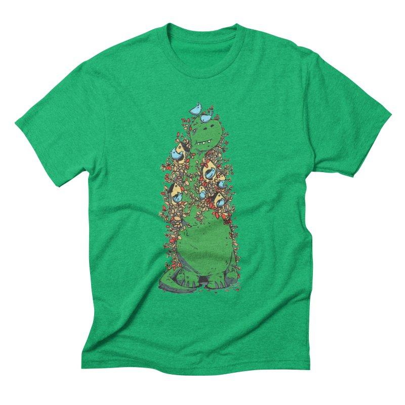 Dino Tree Men's Triblend T-shirt by Chris Williams' Artist Shop