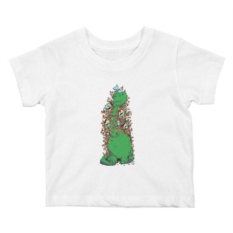 Dino Tree Kids Baby T-Shirt by Chris Williams' Artist Shop
