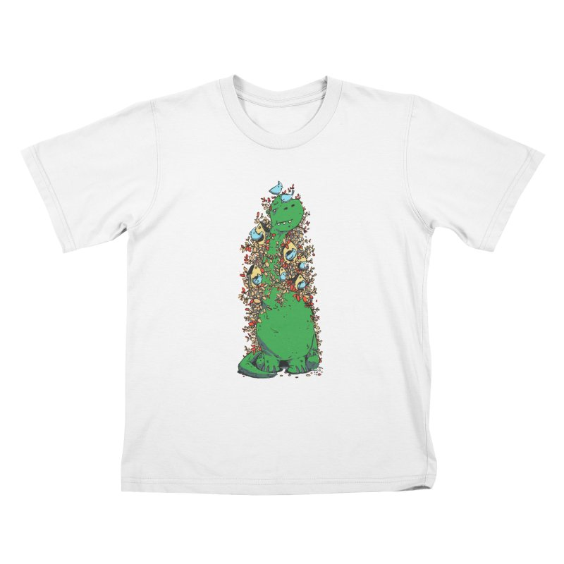 Dino Tree Kids T-Shirt by Chris Williams' Artist Shop