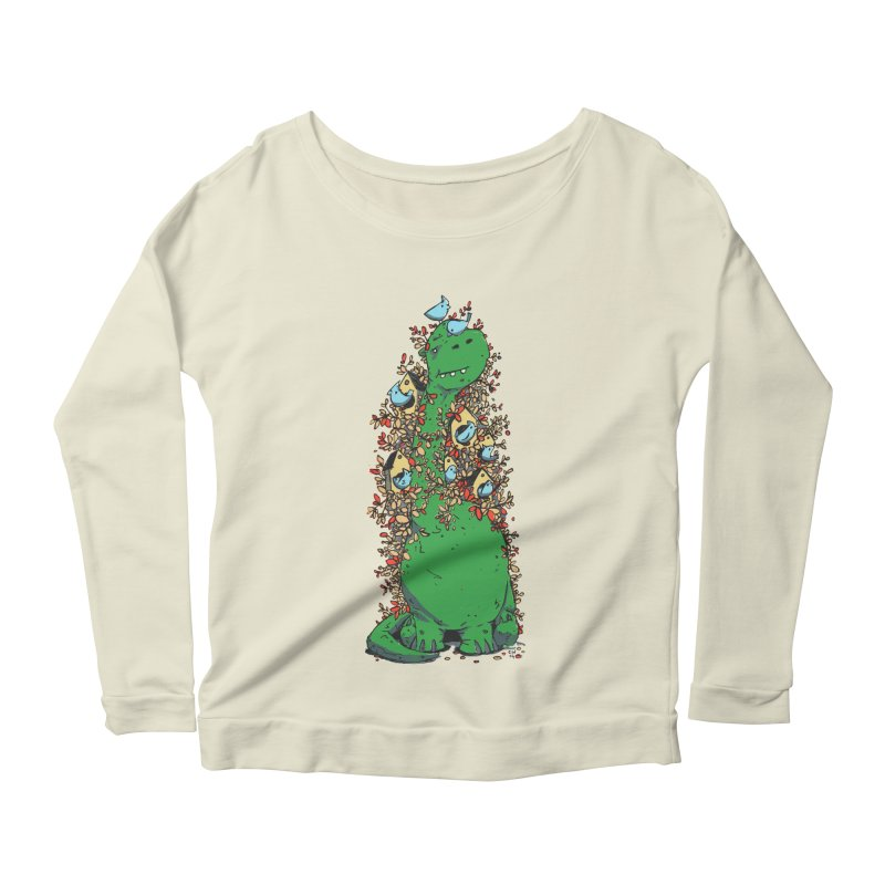 Dino Tree Women's Scoop Neck Longsleeve T-Shirt by Chris Williams' Artist Shop
