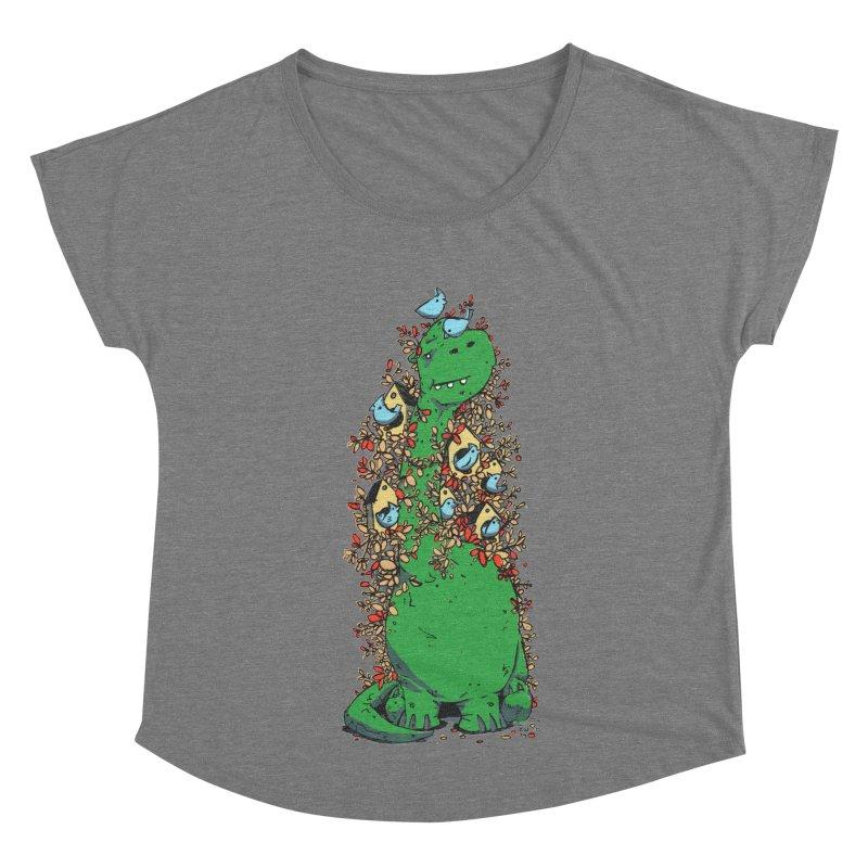 Dino Tree Women's Scoop Neck by Chris Williams' Artist Shop