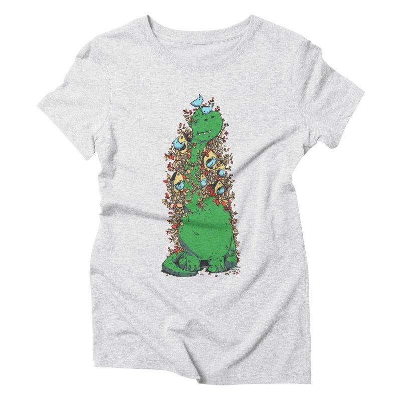 Dino Tree Women's Triblend T-Shirt by Chris Williams' Artist Shop