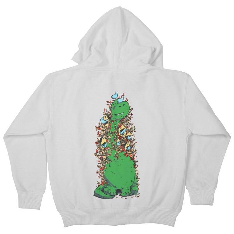 Dino Tree Kids Zip-Up Hoody by Chris Williams' Artist Shop