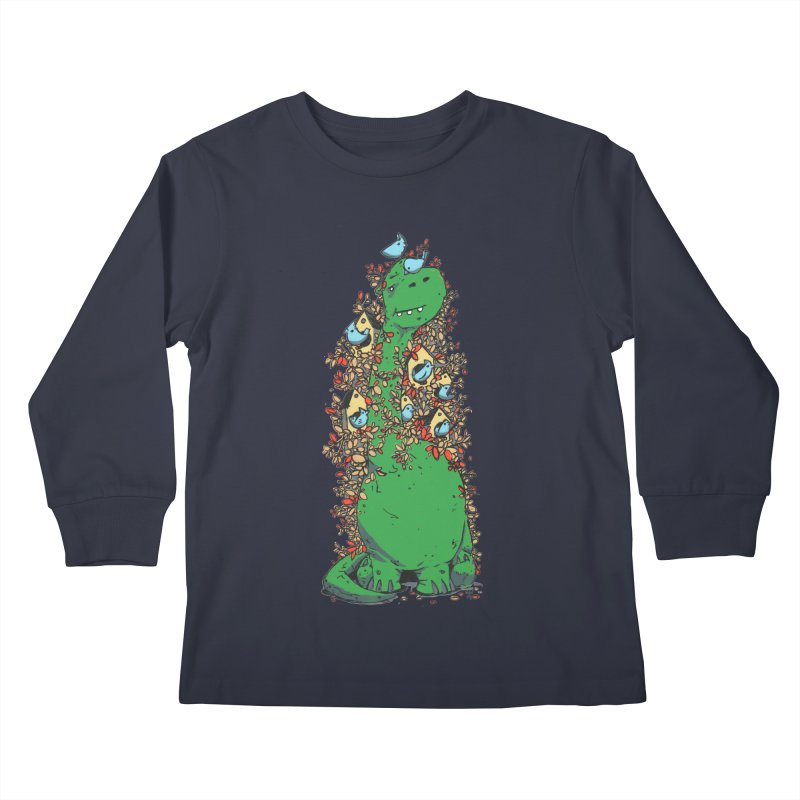 Dino Tree Kids Longsleeve T-Shirt by Chris Williams' Artist Shop