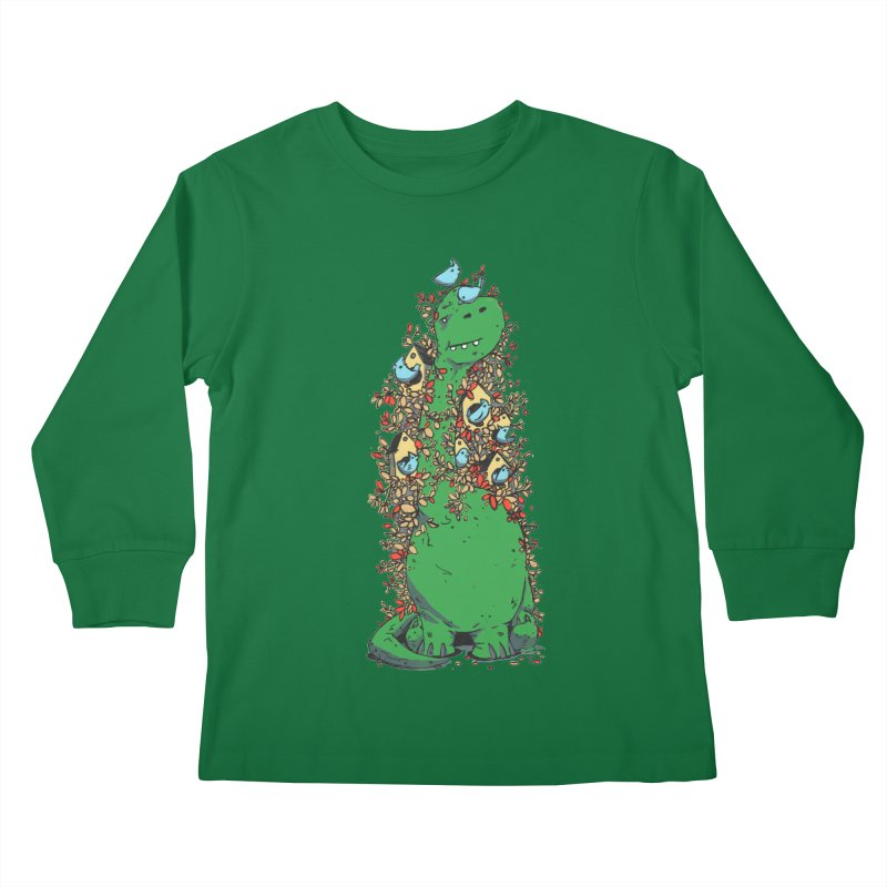 Dino Tree Kids Longsleeve T-Shirt by Chris Williams' Artist Shop