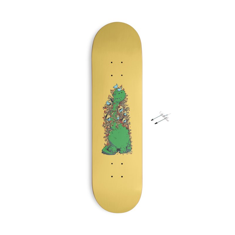 Dino Tree Accessories With Hanging Hardware Skateboard by Chris Williams' Artist Shop