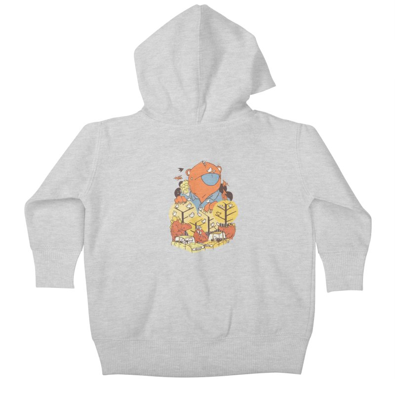 After People Kids Baby Zip-Up Hoody by Chris Williams' Artist Shop