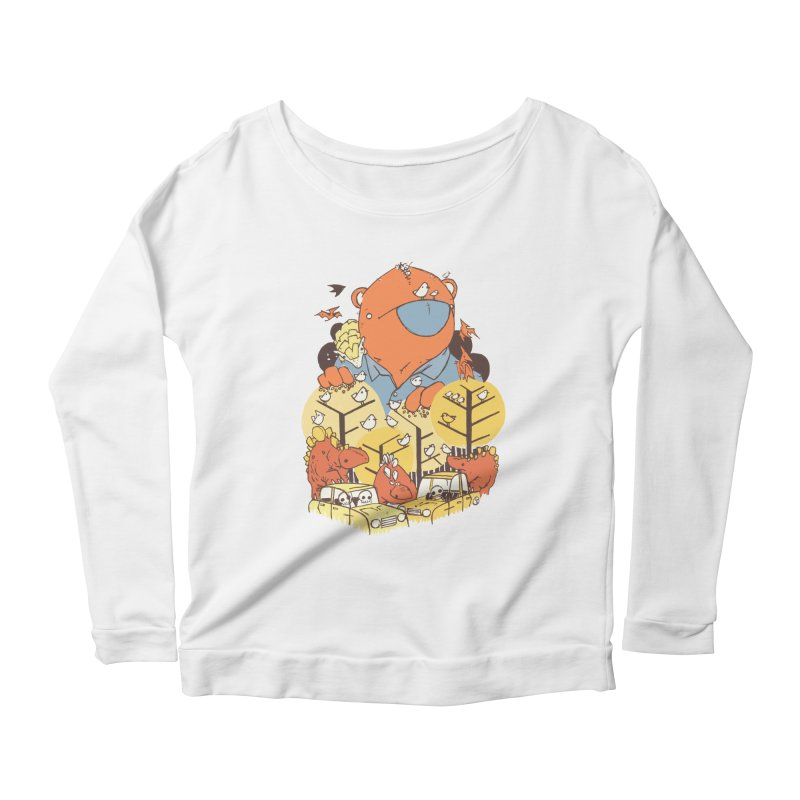 After People Women's Scoop Neck Longsleeve T-Shirt by Chris Williams' Artist Shop