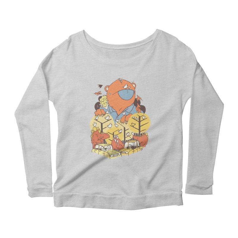 After People Women's Scoop Neck Longsleeve T-Shirt by Chris Williams' Artist Shop
