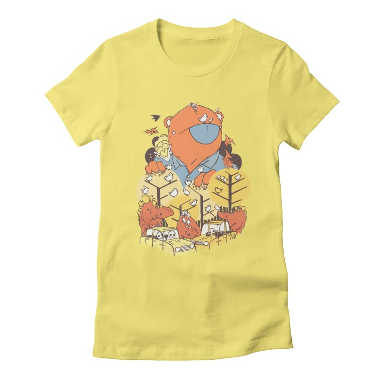 After People Women's Fitted T-Shirt by Chris Williams' Artist Shop