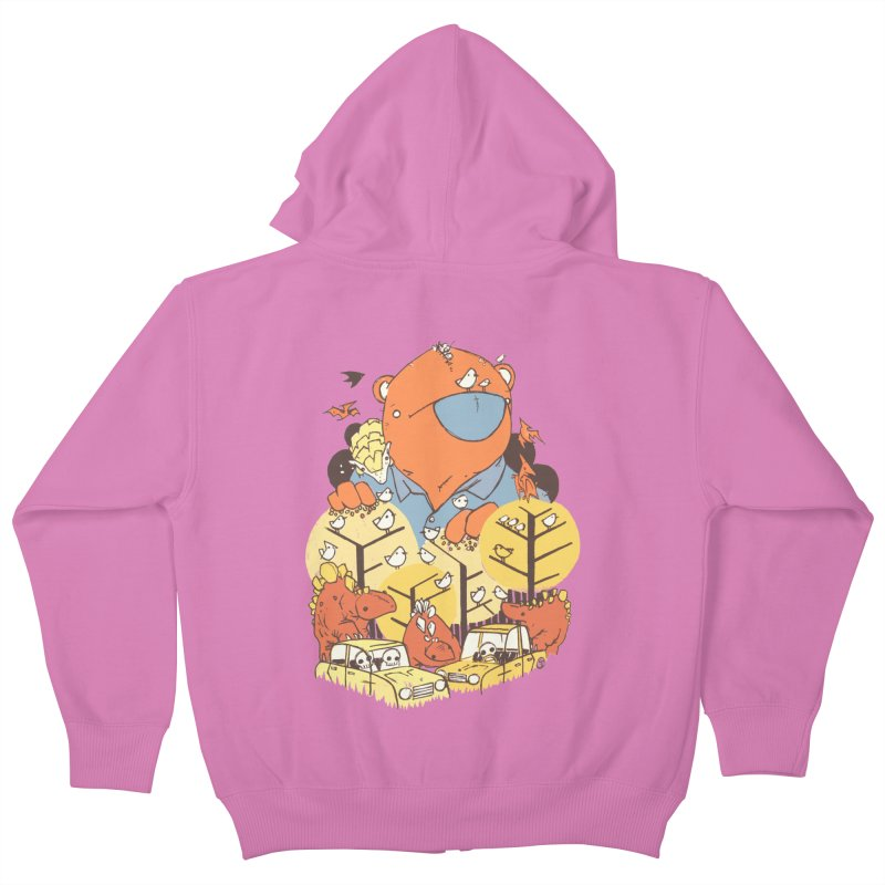 After People Kids Zip-Up Hoody by Chris Williams' Artist Shop