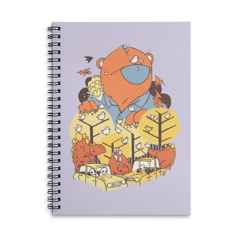 After People Accessories Lined Spiral Notebook by Chris Williams' Artist Shop