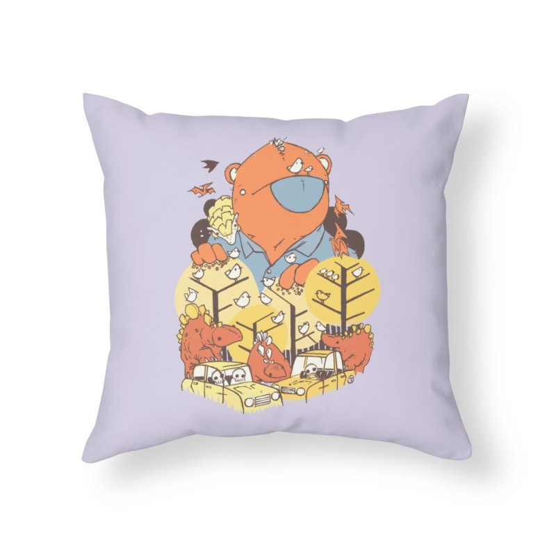 After People Home Throw Pillow by Chris Williams' Artist Shop