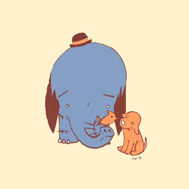 Elephant, Dog, Friends by Chris Williams' Artist Shop