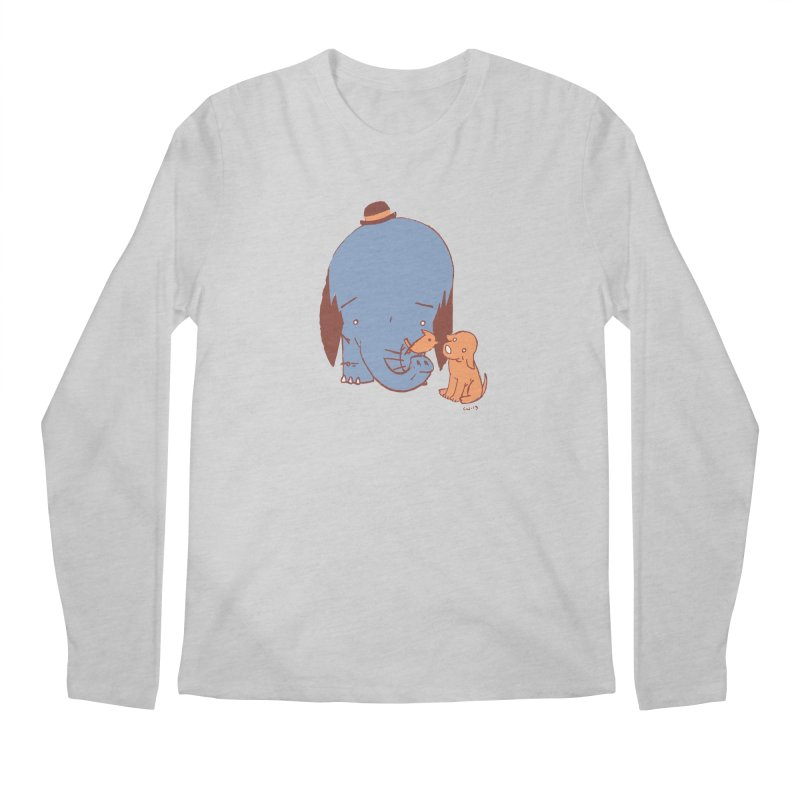 Elephant, Dog, Friends Men's Regular Longsleeve T-Shirt by Chris Williams' Artist Shop