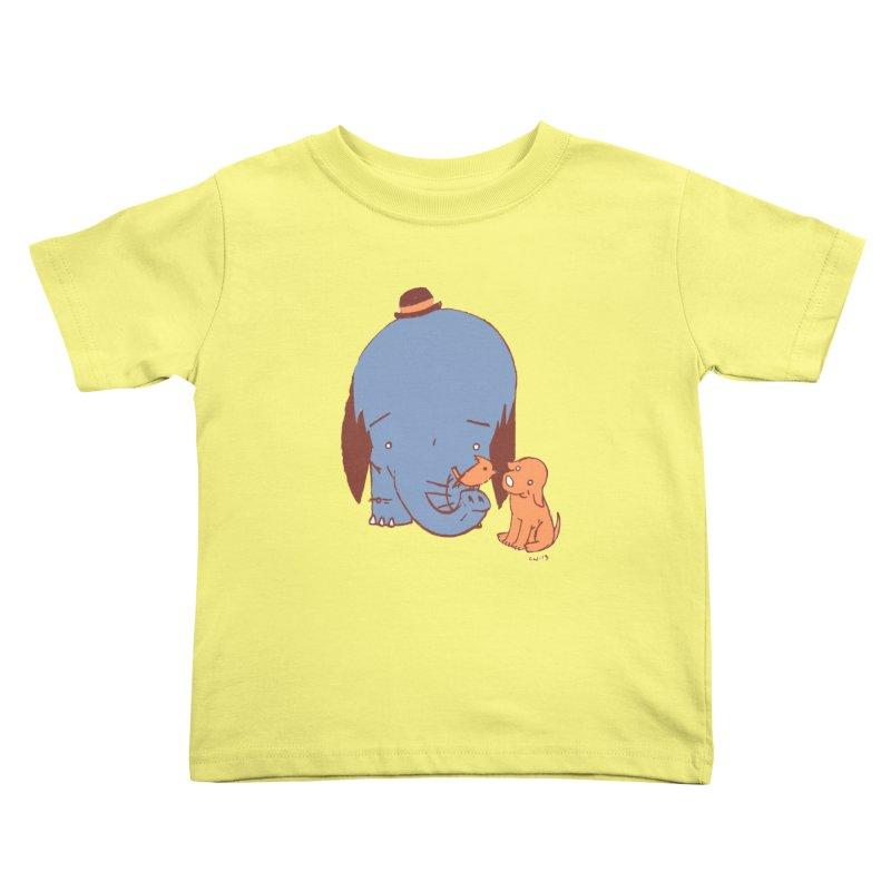 Elephant, Dog, Friends Kids Toddler T-Shirt by Chris Williams' Artist Shop