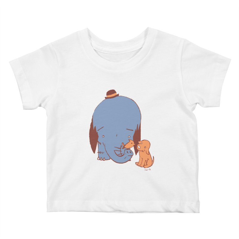 Elephant, Dog, Friends Kids Baby T-Shirt by Chris Williams' Artist Shop