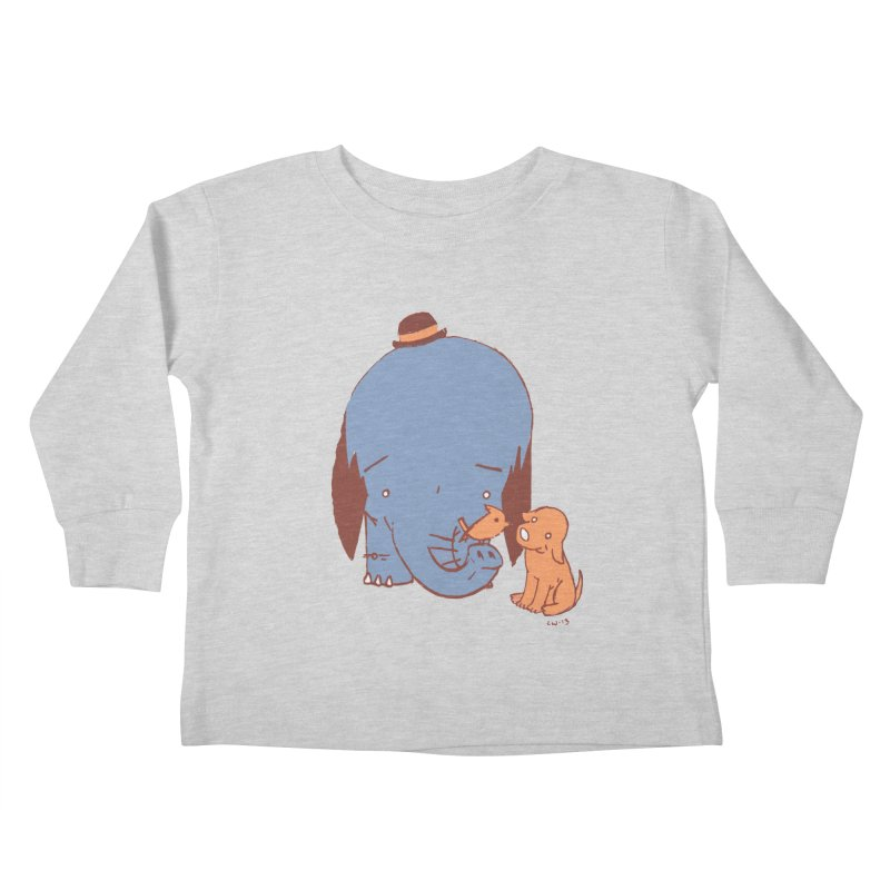 Elephant, Dog, Friends Kids Toddler Longsleeve T-Shirt by Chris Williams' Artist Shop