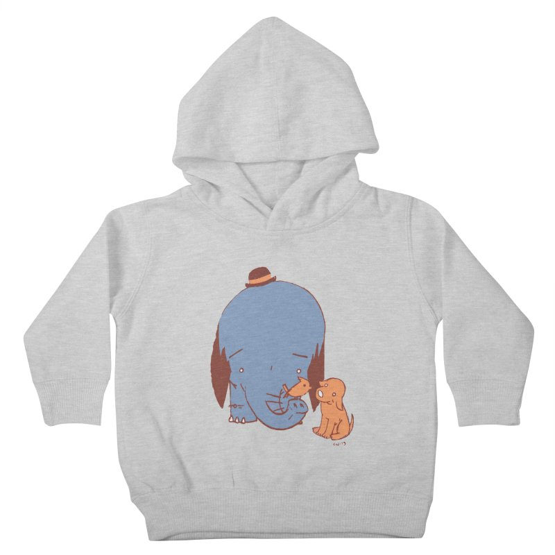Elephant, Dog, Friends Kids Toddler Pullover Hoody by Chris Williams' Artist Shop