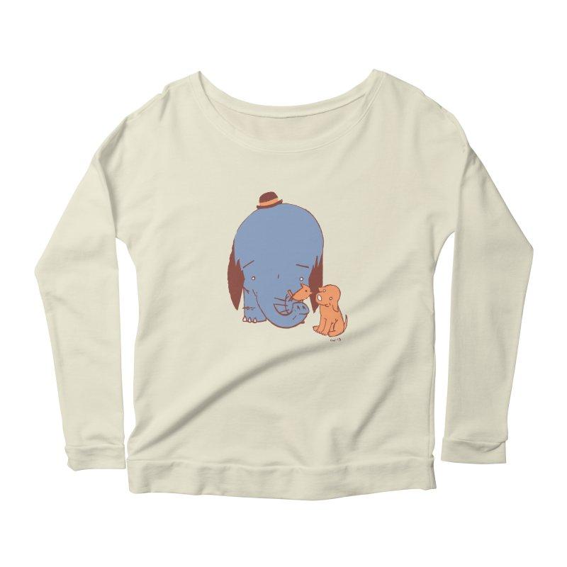 Elephant, Dog, Friends Women's Scoop Neck Longsleeve T-Shirt by Chris Williams' Artist Shop