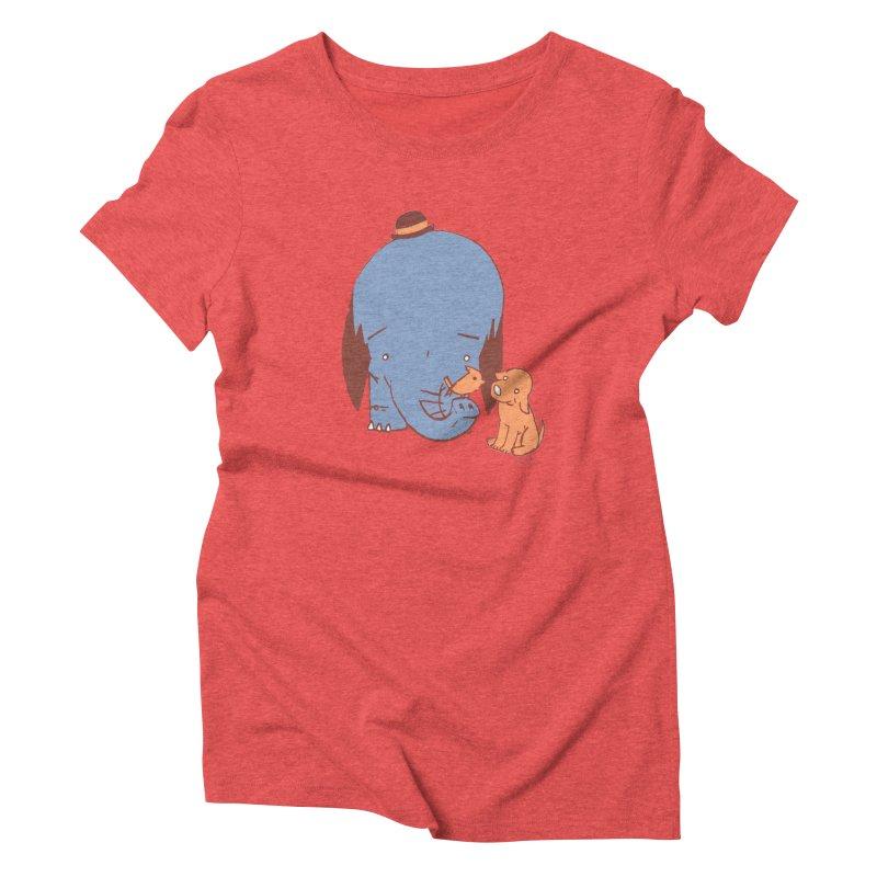 Elephant, Dog, Friends Women's Triblend T-Shirt by Chris Williams' Artist Shop