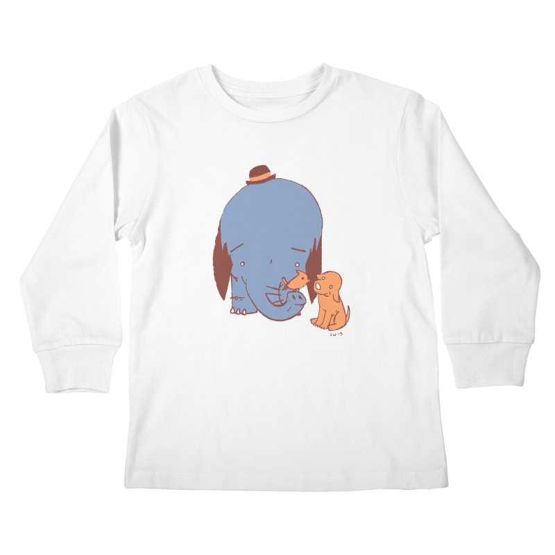 Elephant, Dog, Friends Kids Longsleeve T-Shirt by Chris Williams' Artist Shop