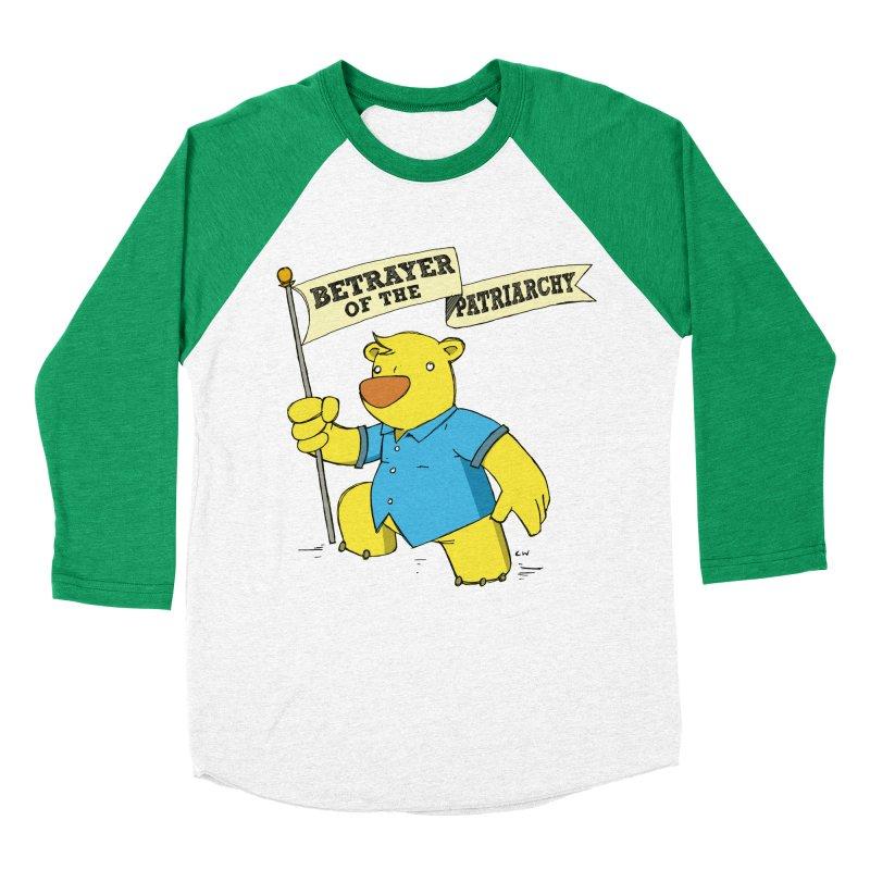 Betrayer of the Patriarchy! Women's Baseball Triblend Longsleeve T-Shirt by Chris Williams' Artist Shop