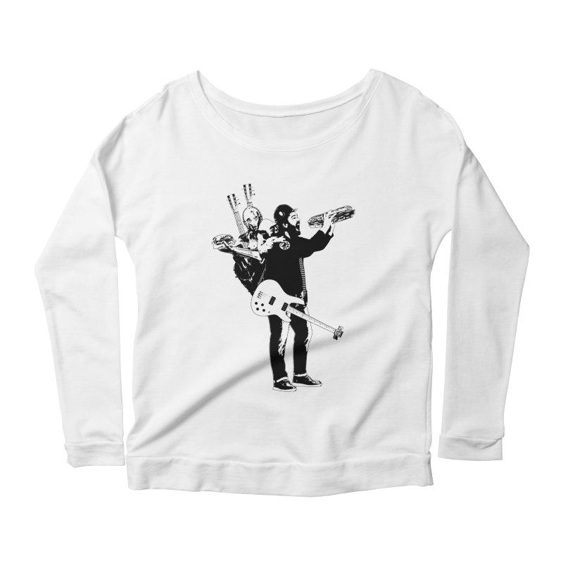 Tall Chris Women's Scoop Neck Longsleeve T-Shirt by Chris Williams' Artist Shop